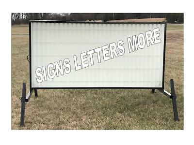 "New Outdoor Portable Lighted Business Sign W/ 8"" Letters 4' X 8' Message Area"