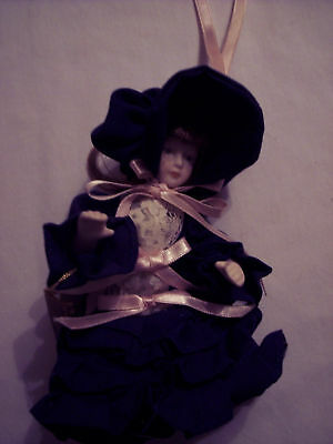 Little Luvables Porcelain Doll Hand Painted from Estate