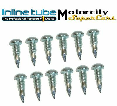 Chevy Head Light Retaining / Trim Ring Screws to head light bucket 12 pc Set