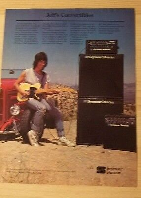 1985 PRINT Ad SEYMOUR DUNCAN FEATURING JEFF BECK PROMO