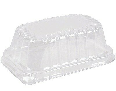 Durable Clear Dome Lid For 1 lb. Aluminum Foil Loaf Pan 500's - REF # P5000-500