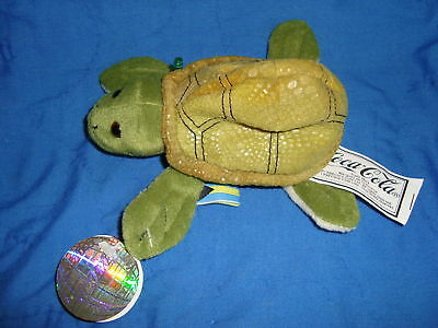 Coca Cola Collectable Plush Beanbag Turtle Salty W/Tags