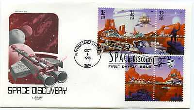 3238-42 Space Discovery, Artmaster strip 3+2, FDC