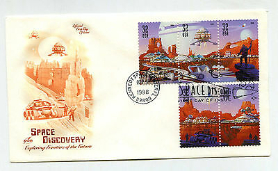 3238-42 Space Discovery, ArtCraft strip 3+2, FDC