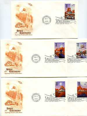 3238-42 Space Discovery, ArtCraft set of 5, FDCs