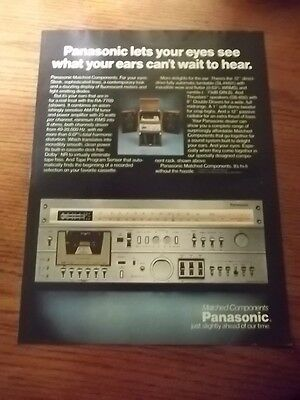 1979 Vintage Ad FOR PANASONIC MATCHED COMPONENTS RA7700