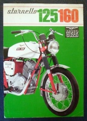 Moto Guzzi 125 & 160 Motorcycle Sales Sheet (Italian).