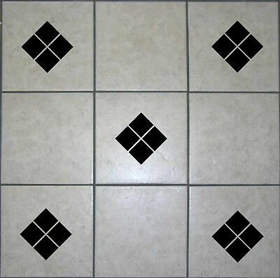 Diamond Square Tile Transfers Stickers Decals Vinyl DIY Waterproof Bathroom T10