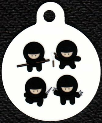 Engraved Pet ID Tag Round Four Ninjas! Awesome Tag!