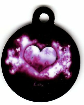 Engraved Pet ID Tag Round Love Explosion Awesome Tag!