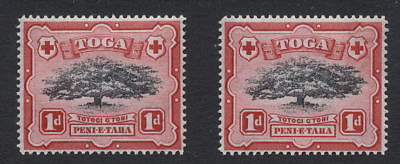 TONGA 1942 1d TREE...LOPPED BRANCH EARLY STAGE..UM MINT