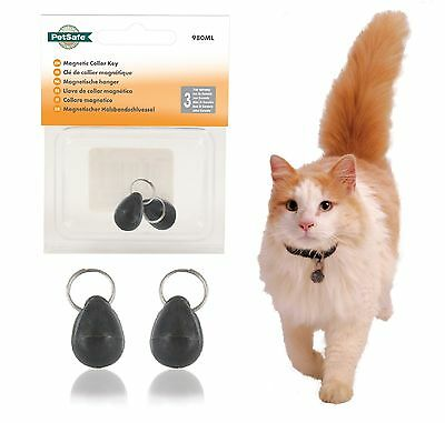 2 x PETSAFE / STAYWELL 980 CAT FLAP MAGNET COLLAR KEY FOR MODELS 400 420 & 932
