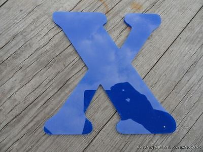 """Funky Blue Plastic """"x"""" From A Shop Sign"""