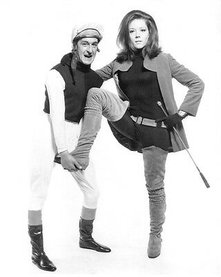 The Avengers Diana Rigg 8X10 Photo Holding Riding Crop