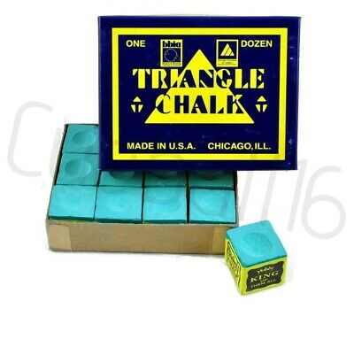 GREEN 12 x Pieces of High Quality Triangle Snooker / Pool Tables Chalks