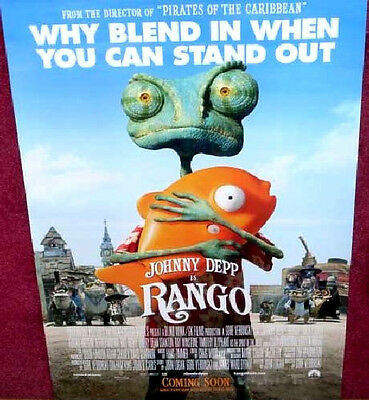 Cinema Poster: RANGO 2011 (Main One Sheet) Johnny Depp