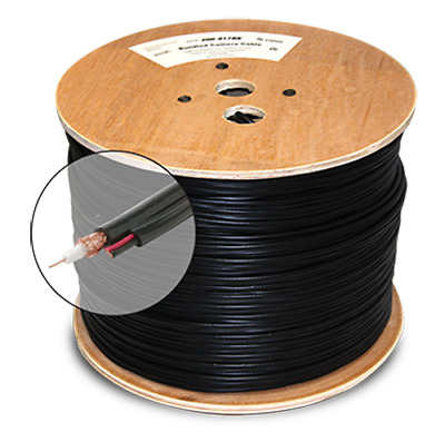 RG59 Siamese Coaxial Cable 20AWG Video Power CCTV Security Camera Coax 2x 1000ft