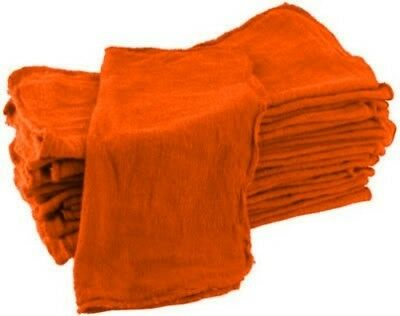 100 orange industrial shop rags towels free shipping 14''x13''
