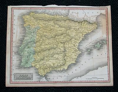 1819 CONSTABLE. Espana, Iberia, Spain, Portugal Minorca