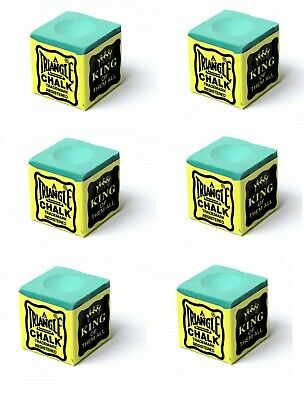 6 x GREEN Triangle Quality USA Pool - Snooker-Billiard Tables Cues Tips Chalks