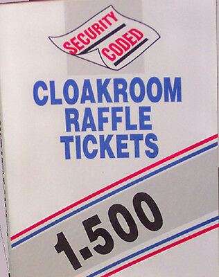 500 raffle tickets a book of cloakroom tombola easytear ticket & duplicate stubs