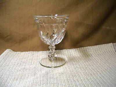 Vintage Fostoria Crystal Colony Pattern Water Goblet