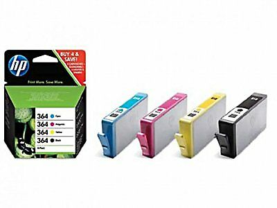 MULTI PACK 4 CARTOUCHES HP 364 CYAN + MAGENTA + JAUNE + NOIR / sd534ee noire