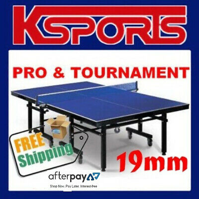 Table Tennis Ping Pong Table Pro Size 19Mm Top - Ittf Approved Manufacturer
