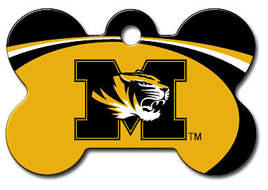 Licensed NCAA Missouri Tigers Bulldogs Pet Tag