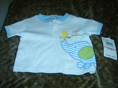 new  Baby Togs want a peanut Elephant top 6/9mons Safari animals infants casual