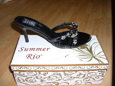 New Women Summer Rio Low Heal Shoes US Size 6 NIB