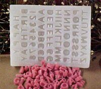 Alphabet Letters and Numbers 69 C Silicone Mold 2228