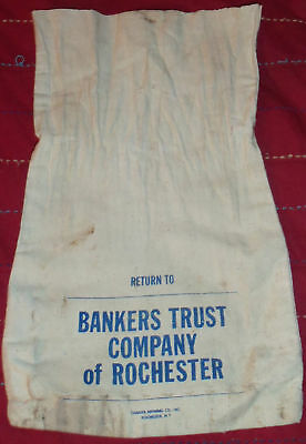 Bankers Trust Company of Rochester Bank money coin bag