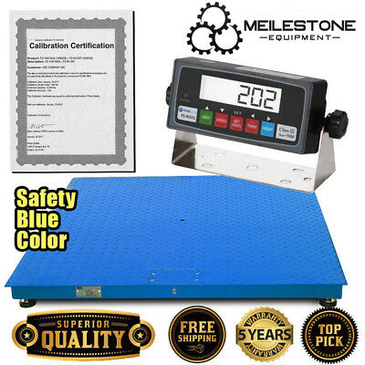 "New 10000x1lb 48""x48"" Floor/Pallet Scale w/High End Indicator & Calibration Cert"