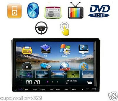 On Sale Double 2 Din 7'TouchScreen LCD Car Radio Indash Stereo Car DVD CD Player