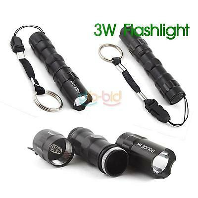 3W LED AA Handy Camping Flashlight Torch Lamp Keychain ER Safe Delivery