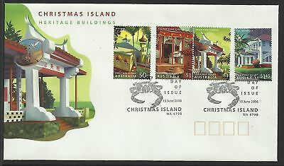 Christmas Island 2006  Fdc Heritage Buildings