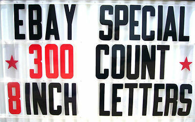 8 Inch Flexible Plastic Portable Marquee Sign Letters