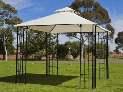 3x3m Steel Frame Outdoor Gazebo Pergola Marquee Sunshade Patio Furniture