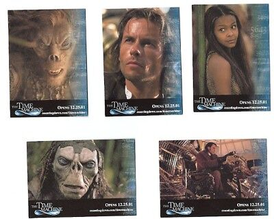 The Time Machine Promo Trading Card Set(5) SDCC 2001