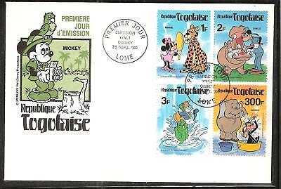 TOGO  # 1064//1072A DISNEY MICKEY MOUSE IN JUNGLE FDC's