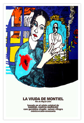 Spanish decor Graphic Design movie Poster for Cuba film.MIRANDO el mar.art