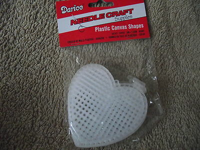 """Darice 10 Plastic Canvas Shapes 3"""" Heart Shapes"""