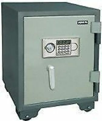 Fireproof Steel Digital Safe w key battery YB-530ALD-H