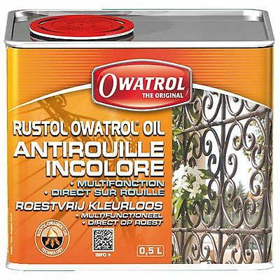 RUSTOL OWATROL 500 ml DIRECT ROUILLE INCOLORE