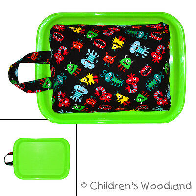 Lap Desk For Kids - Monsters Lightweight Art Tray - Boys Car Ride Travel Table