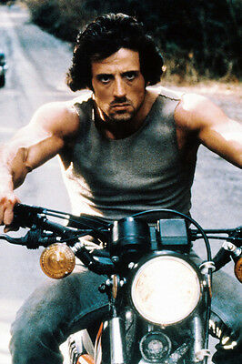 First Blood Sylvester Stallone 24X36 Poster Motorbike