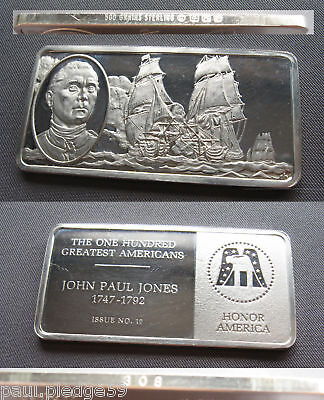 The Franklin Mint Greatest Americans Silver Bar