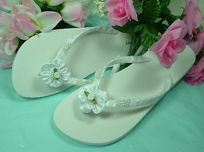 "Wedding Shoes FLIP FLOPS  ""Carley"""