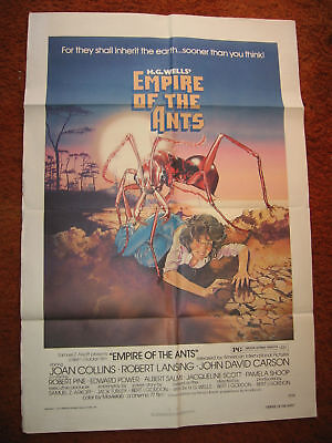 EMPIRE OF THE ANTS WELLS 1977 FOLDED UNUSED MOV POSTER